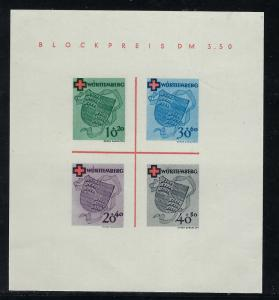 Germany - under French occupation Scott # 8NB4a, mint nh, s/s