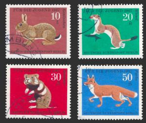 Germany FRG 1967 Sc B422-25 For the Youth UVF animals