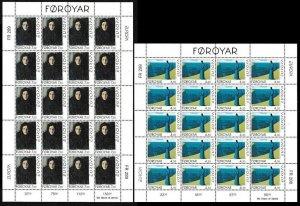 FAROE 1996 EUROPA: Famous Women. Paintings. 2 MINI-SHEETS = 20 sets, MNH