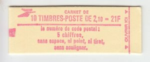 J29329, France  2.10fr Liberty Booklet MNH #1883