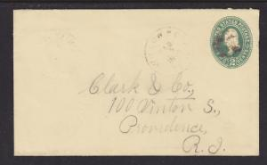 US Sc U312 used 1899 2c Willow Hole, TX Entire VF
