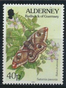 GB Alderney  SG A74 MNH   40p Emperor Moth  1994 SC# 84 See scan