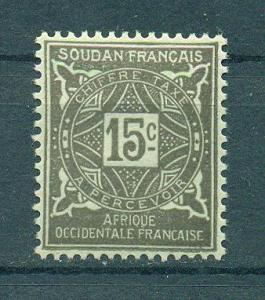 French Sudan sc# J13 mh cat value $.25