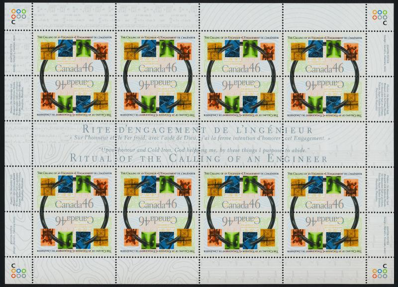 Canada 1848a sheet MNH Engineering