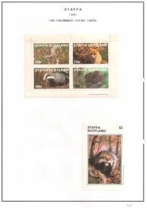 SCOTLAND - STAFFA - 1981 - Animals #1 - Perf 4v, D/L Sheets - M L H
