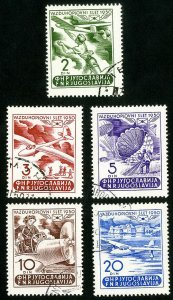 Yugoslavia Stamps # 295-9 XF Used Scott Value $37.00