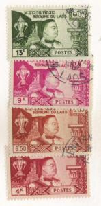 Laos #52-55 cpl used set