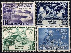 Falkland Islands #103-6  F-VF Used  CV $17.10  (X1278)