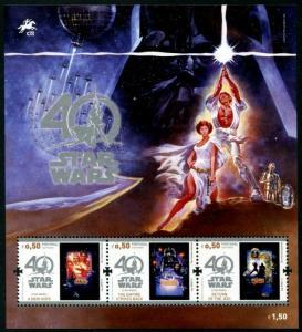 HERRICKSTAMP NEW ISSUES PORTUGAL Sc.# 3952 Star Wars Souvenir Sheet
