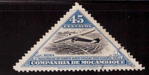 MOZAMBIQUE COMPANY Scott 171 Used CTO triangle airplane stamp