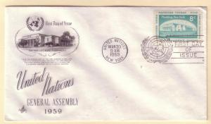 United Nations FDC Sc. # 70 General Assembly '59     L43