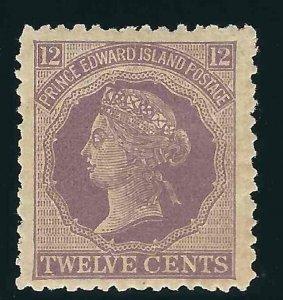 Canada Prince Edward Island 15 SG 42 12c Lilac MH VF 1872 SCV $7.50
