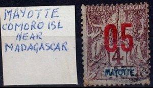 Mayotte,#23,1912, FU