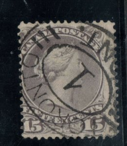 Canada #29 Used With Scarce Toronto #1 Oval Numeral Cancel