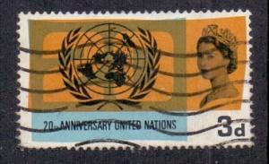 Great Britain 1965 used UNO anniversary    3d       #