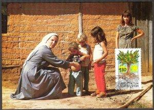 Liechtenstein 1993 Religion Mission Maxi Card FDC