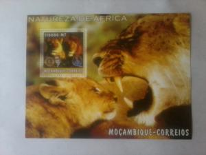 MOZAMBIQUE SHEET ROTARY LIONS CLUB WILD CATS WILDLIFE