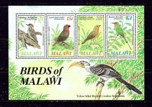 Malawi 473a MNH 1985 Birds of Malawi sheet of 4