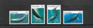 WHALES - AUSTRALIA #821-4  MNH