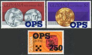 GUYANA 1982 Three 'Official' values MNH