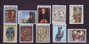 Iceland Sc 461-71 1974 1100th Anniv stamp set mint NH