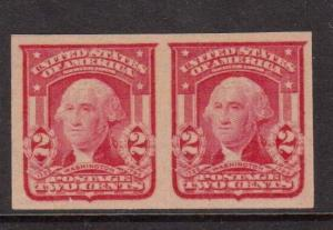 USA #320 VF/NH Imperf Pair