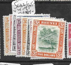 BRUNEI (PP2603B) RIVER SCENE  SG 82, 84-91    MOG