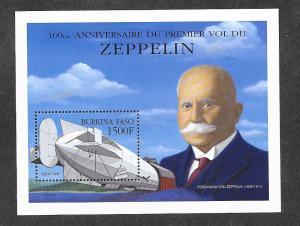 Burkina Faso 1195 Mint NH Souvenir Sheet Zeppelin!