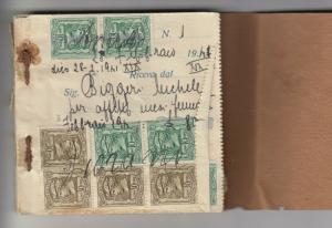 Italy 1941/2 Saving Book Many Stamps J4084