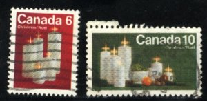 Can #606,608   u   VF 1972 PD