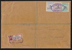 NEW GUINEA - GRI : 1915 Registered cover Reistration label Kangaroo UNIQUE!!