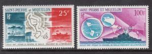 Saint Pierre & Miquelon #C35 - #C36 VF/NH