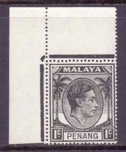 Malaya Penang Scott 3 - SG3, 1949 George VI 1c MH*