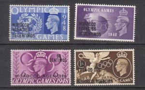 J26355  jlstamps 1948 great britain morocco set mh #95-8 ovpt