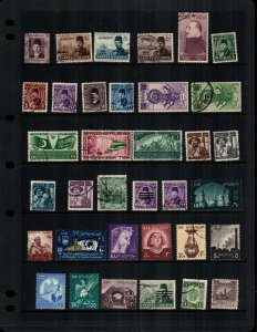 Egypt  31 diff  mint and used stamps