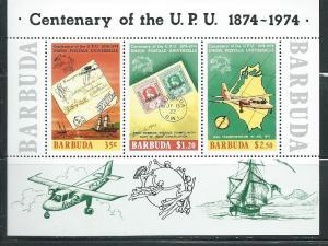 Barbuda #169a UPU 1874-1974 Souvenir Sheet  (MNH) CV$1.90