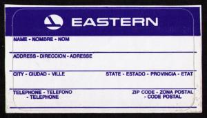EASTERN AIRLINES - SCARCE OLD STICKER LUGGAGE IDENTIFICATION LABEL (AC49)