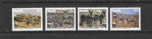 ZEBRAS - NAMIBIA WWF #694-97 MNH