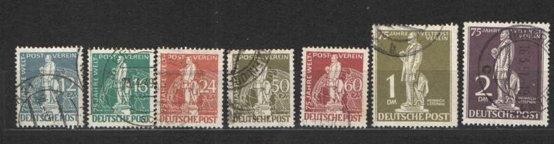 Germany Berlin 1949 Sc# 9N35-9N41 von Stephan Used NH/LH VF+