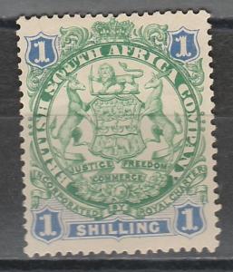 RHODESIA 1896 ARMS 1/- LION LIGHT SHADING