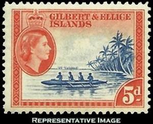 Gilbert and Ellice Islands Scott 66 Unused lightly hinged.