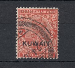 Kuwait KGV 1929 2A O/P SG19 Fine Used J5290