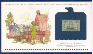 US Sc 951  MNH,Og Encapsulated On A Commemorative Postal History Card VF