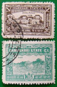 CHARKHARI 1931 1/2a,1a Used