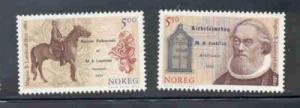 Norway Sc 1348-9 2002 Landstad songs stamp set mint NH