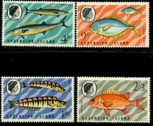 ASCENSION Sc#130-133 SG#126-129 1970 Fish Complete Mint OG LH