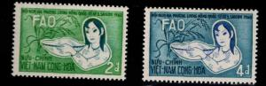 South Vietnam Scott 144-145 MH* FAO Freedom from Hunger set