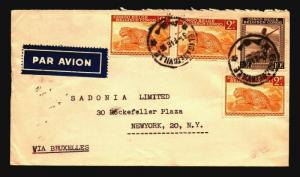 Belgian Congo 1946 Airmail Cover to USA Via Brussels - Z14352