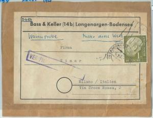 66785 - GERMANY  - Postal History -  PACKAGE LABEL to ITALY 1957