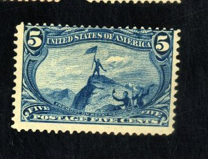 U.S. #288 MINT AVE-FINE OG LH Cat $100